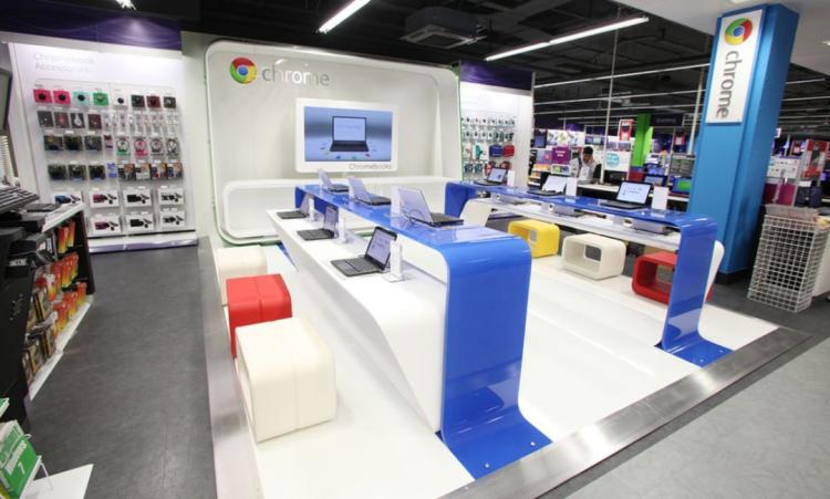 谷歌2015年在伦敦的店中店,图片来源于The verge