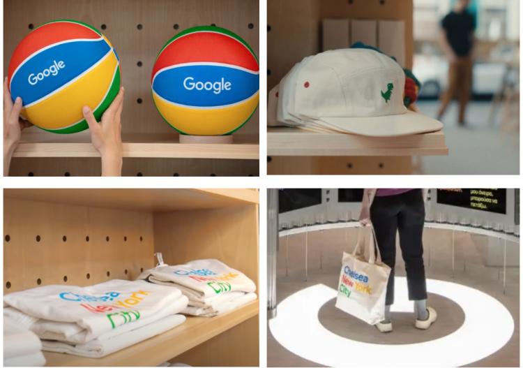 Google Store 里销售的各种周边产品