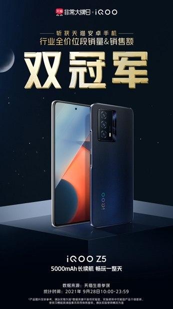 千元满血续航王iQOO Z5首销火爆,媒体评价超高