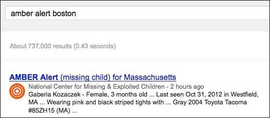 google-amber-alert