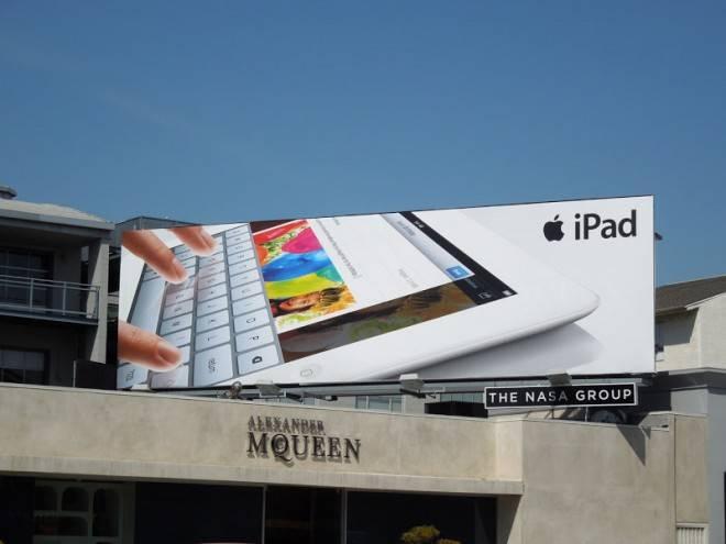 ipad keyboard billboard