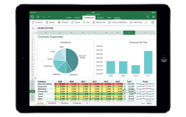 Excel for iPad  in Gray_630_wide