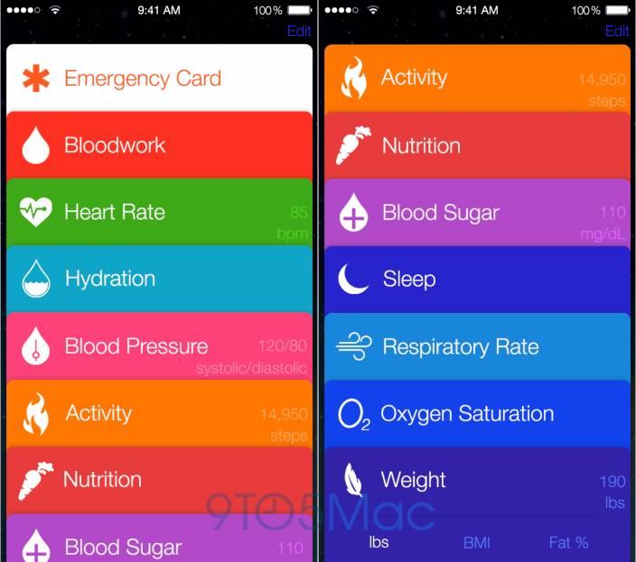iOS8内置的Healthbook