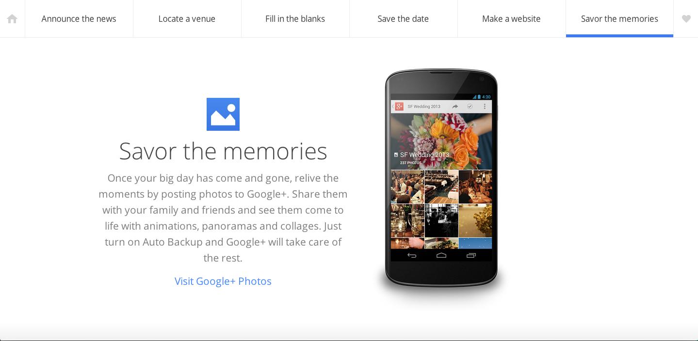 只需六个步骤,Google帮你搞定一场婚礼