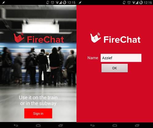 """没有网络也能聊天的FireChat发布中文版,将把""""无信号联网技术""""授权给阿里和百度"""