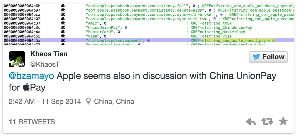 Apple Pay如何进入中国市场?搭上银联的顺风车