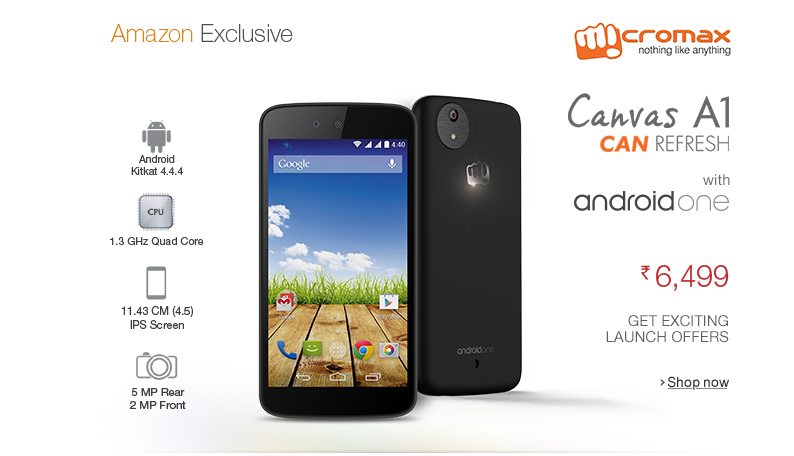Android One MicroMax Amazon