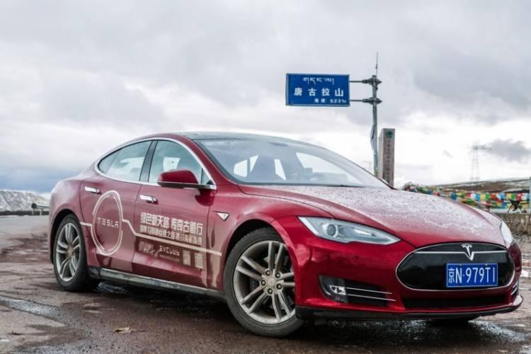Model S抵达此行最高海拔