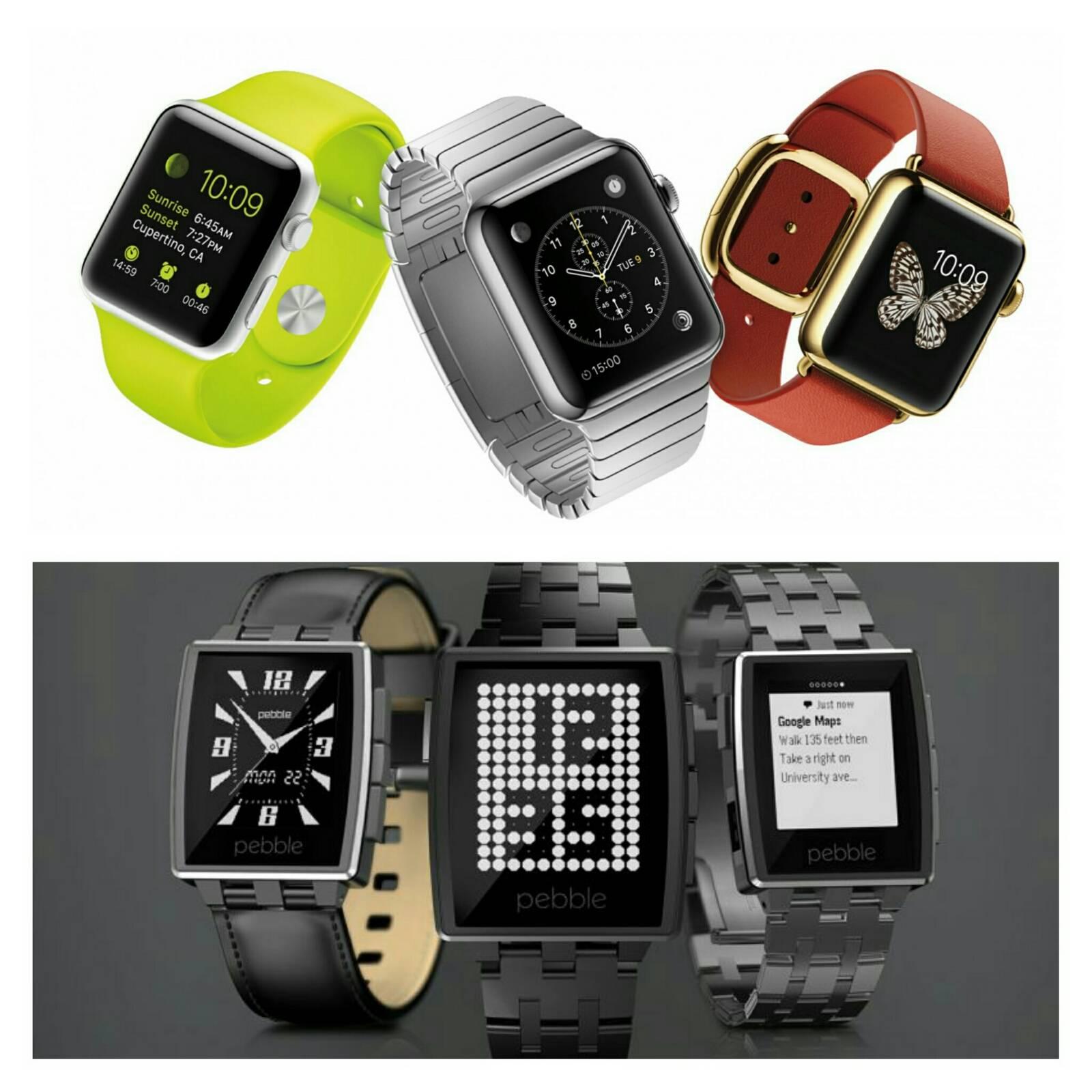 Apple Watch Pebble Watch