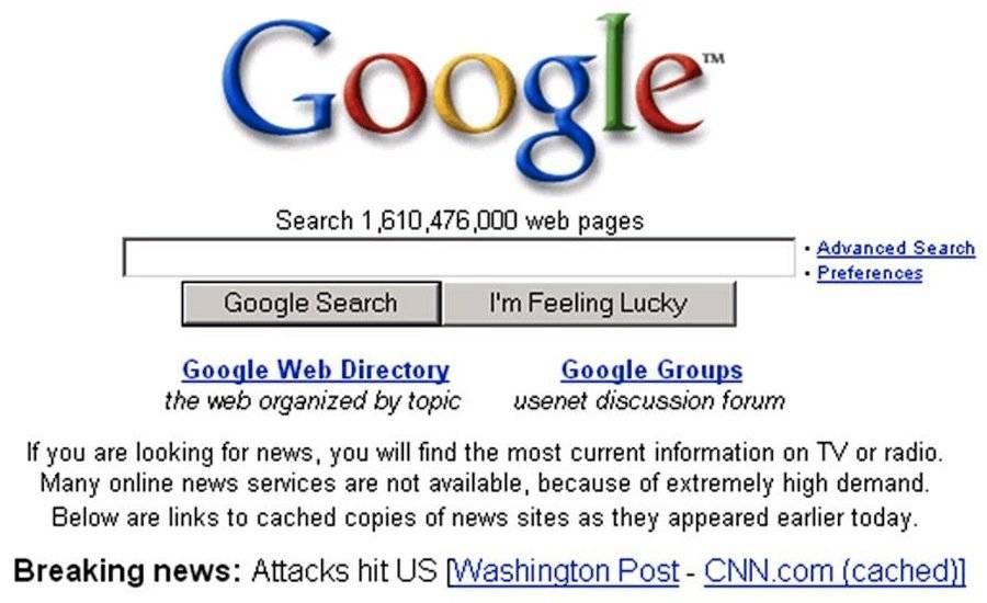 2001年的首页