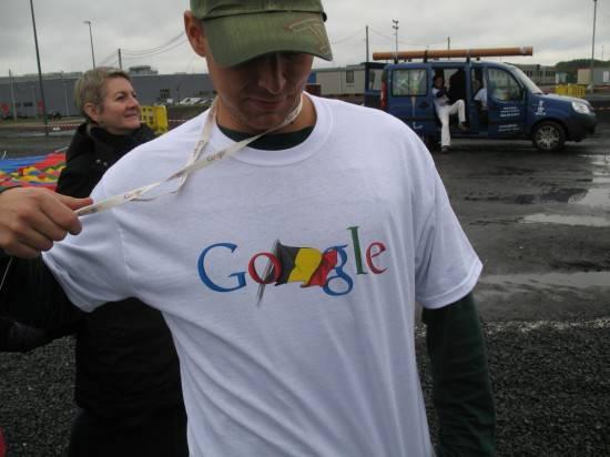 Google比利时数据中心成立时的照片