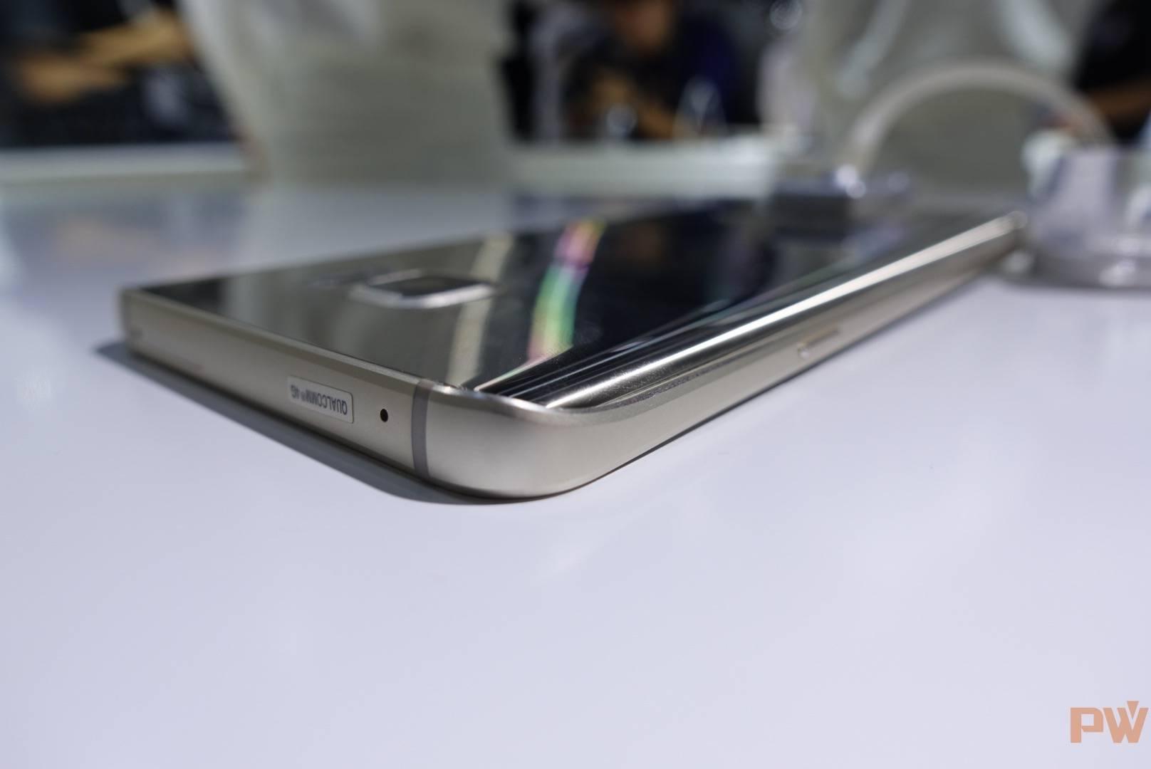 Galaxy Note 5的背面边缘