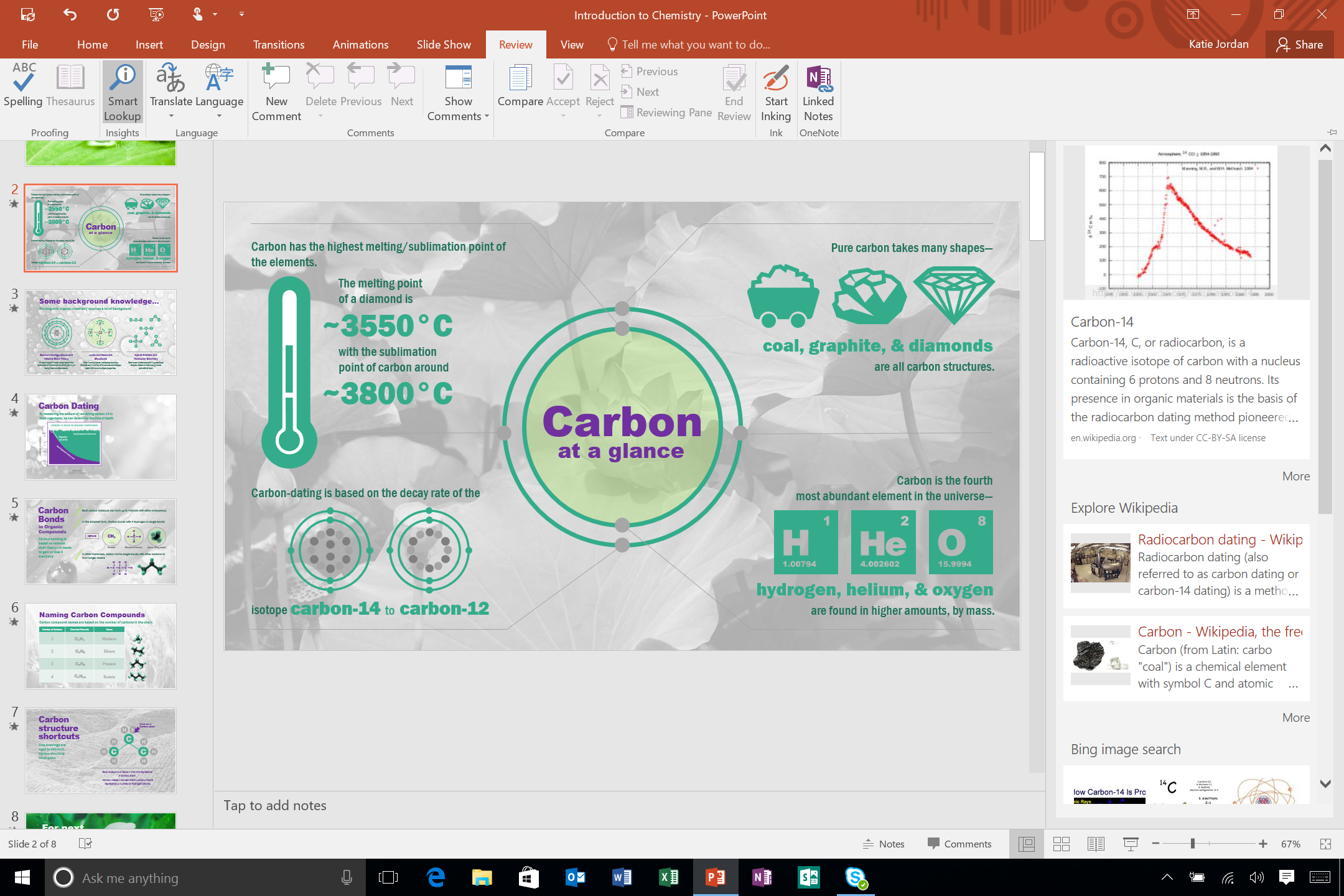 13. Office 2016 Smart Lookup - Ribbon