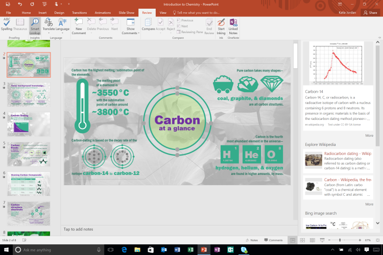 13. Office 2016 Smart Lookup - Ribbon