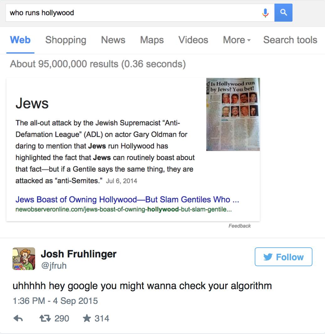 【第2编辑室】谁控制着好莱坞?Google说:犹太人