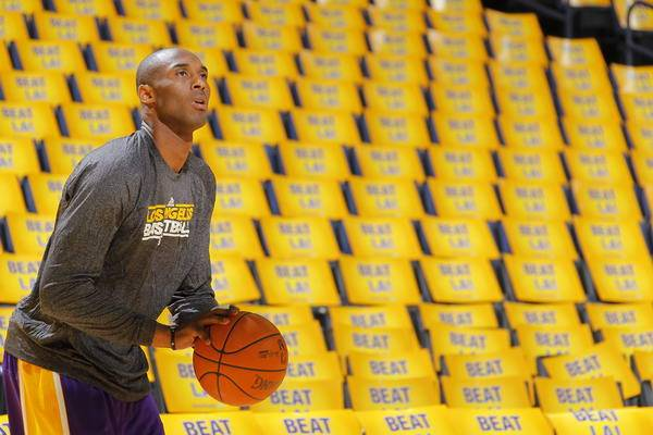 OAKLAND, CA - APRIL 6: Kobe Bryant #8 of the Los Angeles Lakers warms up hours before the game against the Golden State Warriors on April 6, 2011 at Oracle Arena in Oakland, California. NOTE TO USER: User expressly acknowledges and agrees that, by downloading and or using this photograph, user is consenting to the terms and conditions of Getty Images License Agreement. Mandatory Copyright Notice: Copyright 2011 NBAE (Photo by Rocky Widner/NBAE via Getty Images) *** Local Caption *** Kobe Bryant