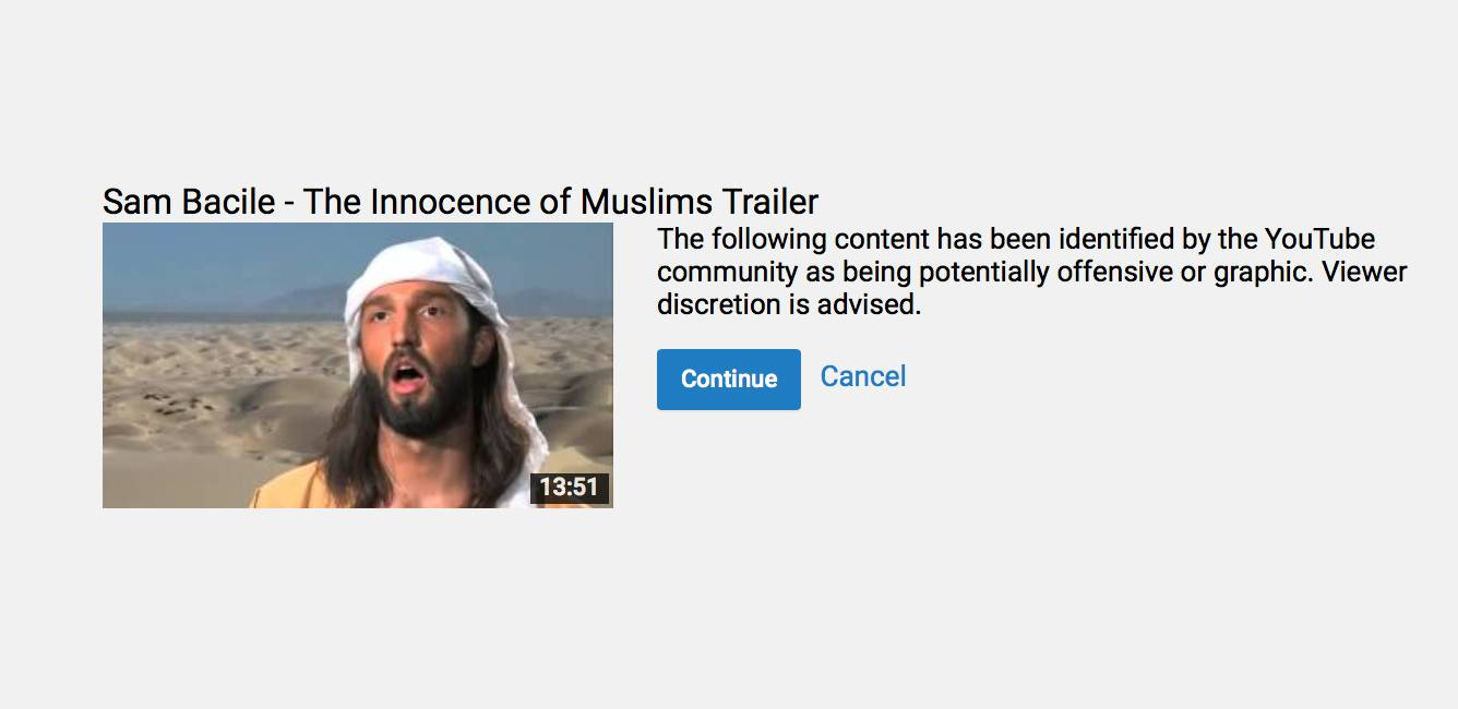 The Innocence of Muslims Trailer