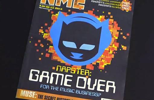 Napster 登上著名的《NME》杂志头版