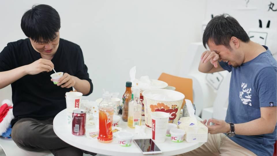 B 站员工比赛吃鸡