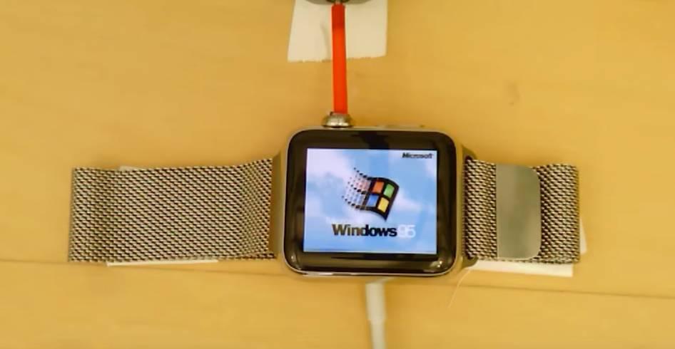程序员把 Windows 95 装到 Apple Watch 里,这样就能随手带台 PC 了