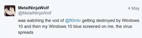 刚在看 Flom 老兄被 Windows 10 耍的视频,突然我的 Windows 10 也蓝屏了。都是套路啊……