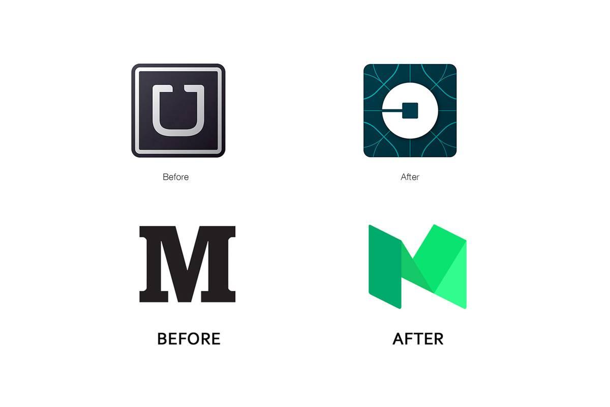 Uber和Medium的Logo演化