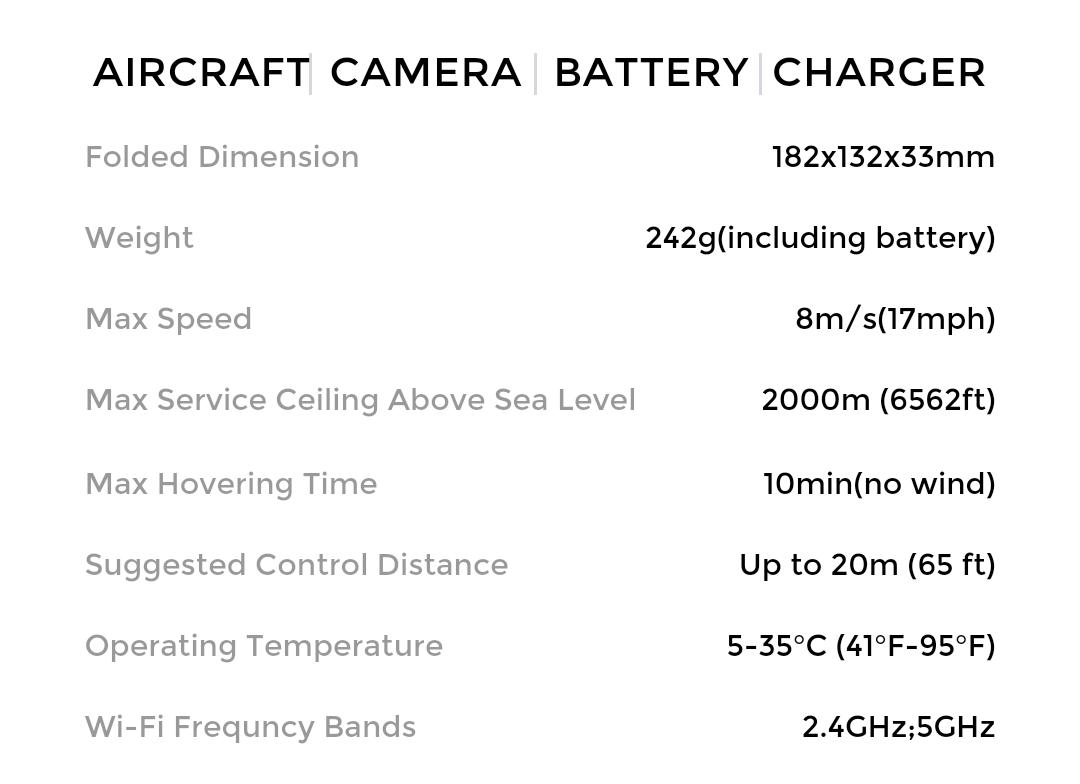 hover camera passport specs
