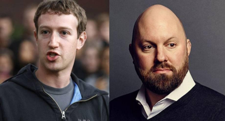 左:马克·扎克伯格;右:马克·安德森