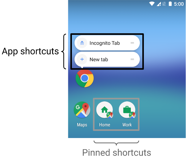 app-shortcuts-pinned-shortcuts