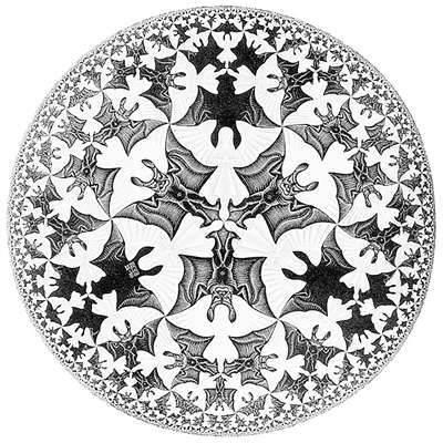 M.C Escher的《圆形极限Ⅳ》