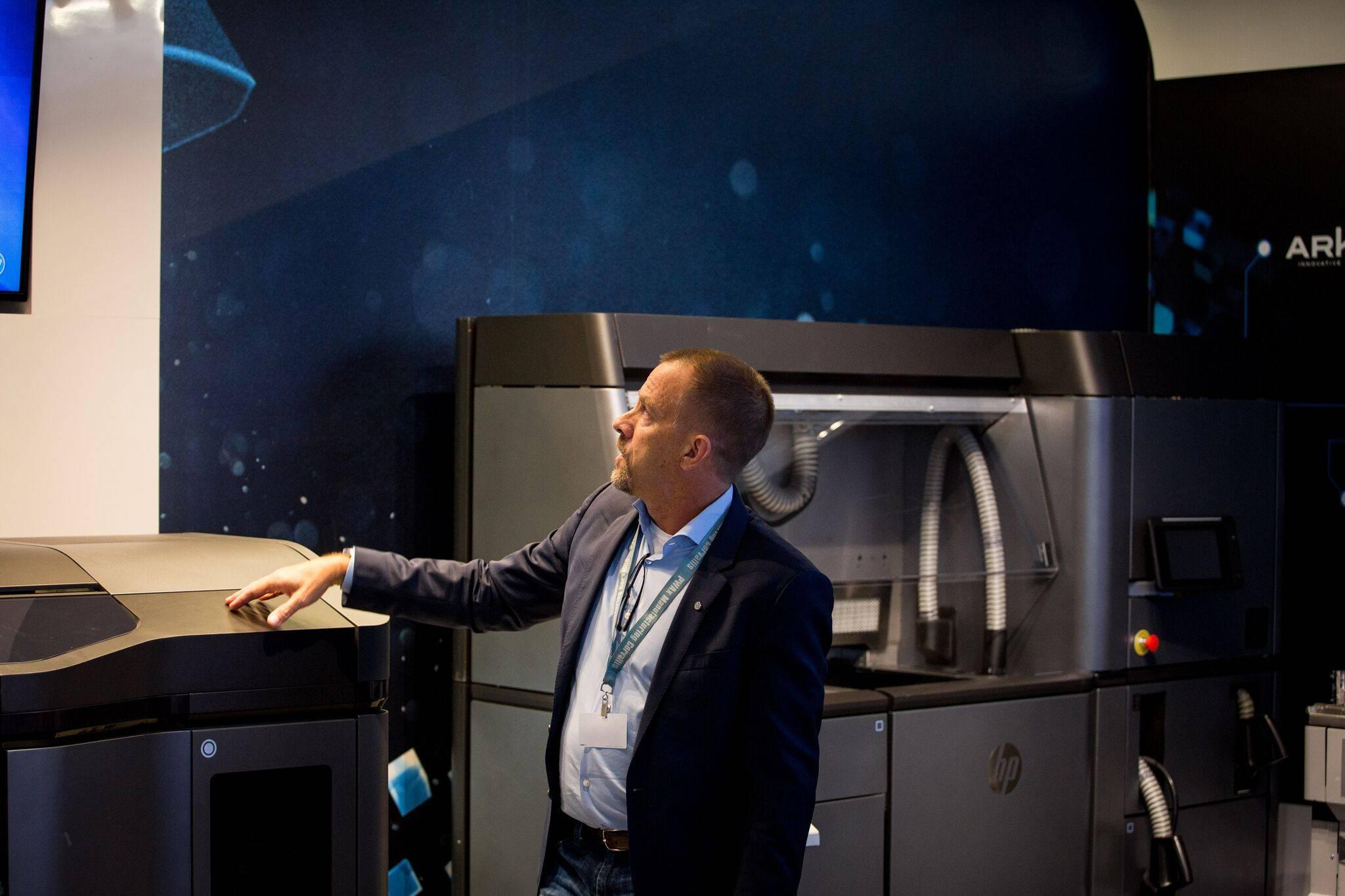 惠普 jet Fusion 3D 4200 型打印机