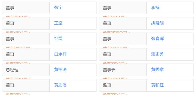 珠海市魅族科技有限公司董事会名单,图片来自天眼查。